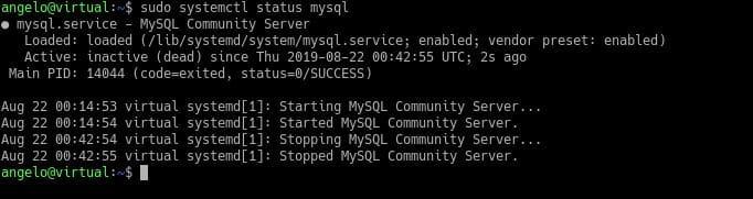 MySQL未启动状态