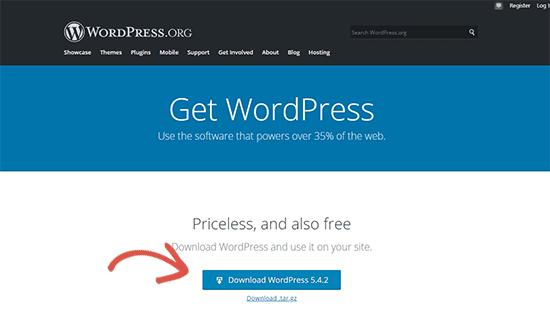 下载WordPress