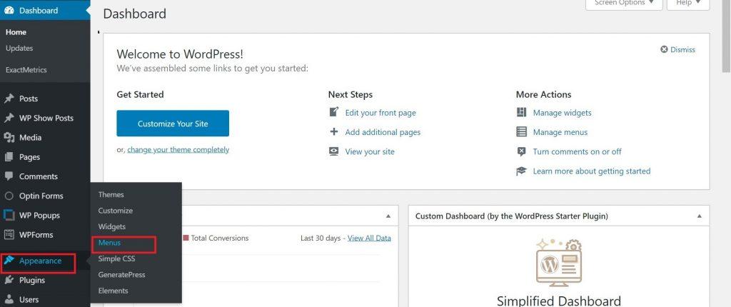 在 WordPress 中添加菜单的方法(创建导航菜单步骤)